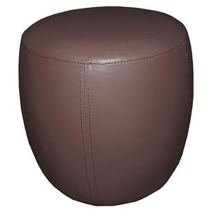 Pouf rond - Diam. 30 cm - Taupe