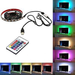 BANDE - RUBAN LED 4m 5050 USB lumière d'ambiance RGB multi couleur L