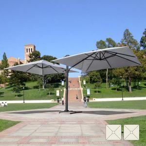 PARASOL Parasol de jardin 3x3  bras double  mât double en