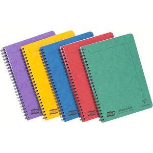 BLOC NOTE Clairefontaine 4850Z - Un lot de 10 cahiers à spir