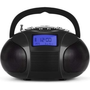 RADIO CD CASSETTE Poste Radio FM + Enceinte Bluetooth MP3 – August S