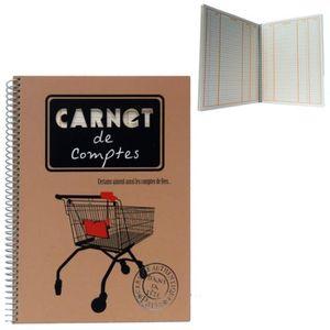 CARNET DE NOTES Carnet de COMPTES - Cahier à Spirales pour Courses