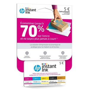 AUTRES SERVICES PC30SA HP Carte Instant ink avec Forfait jusqu'à 15 pages