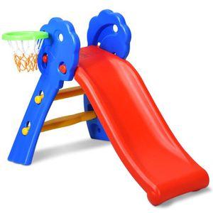 TOBOGGAN COSTWAY Toboggan Pliable pour Enfants 3-8 Ans Char