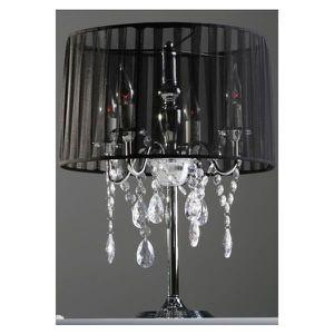 LAMPE A POSER Lampe de table en textile de couleur noire TL00050