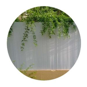 CLÔTURE - GRILLAGE Canisse PVC double face blanc en rouleau - 3 m x 1