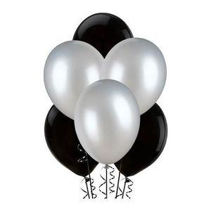 Ballons noirs argents x25
