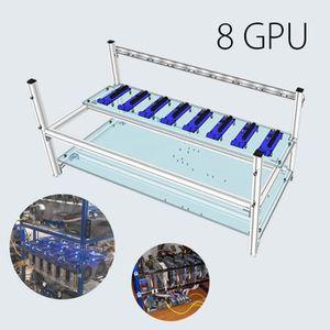 BOITIER PC  Aluminum Open Air Mining Rig Frame Case Boîtier Co