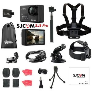PACK CAMERA SPORT Caméra SJCAM SJ8 Pro 4K Pack Outdoor, type GoPro (