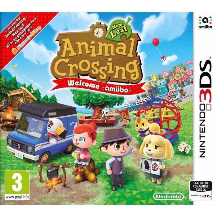animal crossing new leaf welcome amiibo jeu 3ds achat vente jeu 3ds animal crossing nl w 3ds. Black Bedroom Furniture Sets. Home Design Ideas
