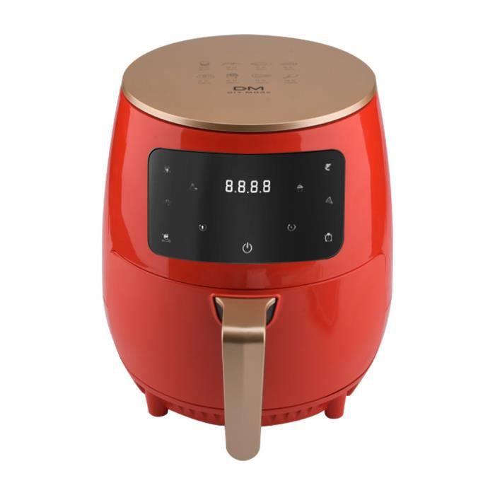 Friteuse Air Fryer 4.5L - Friteuse Électrique - 1400W - Ecran tactile - Sans huile - 8 préréglages de cuisson - Rouge