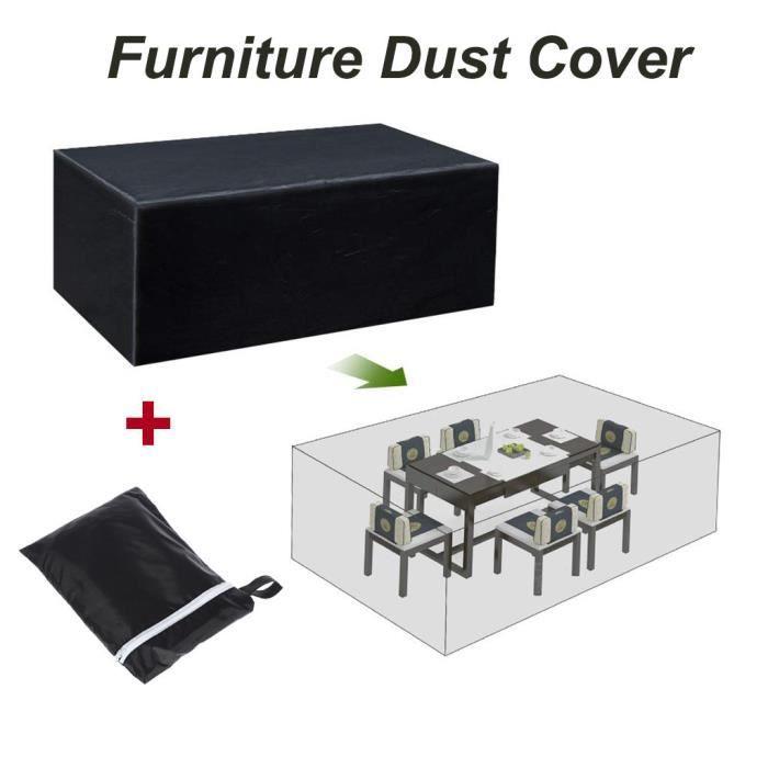 Bâche imperméable de stockage d'hiver de meubles de jardin extérieurs de couverture de table de jardin Pg3107