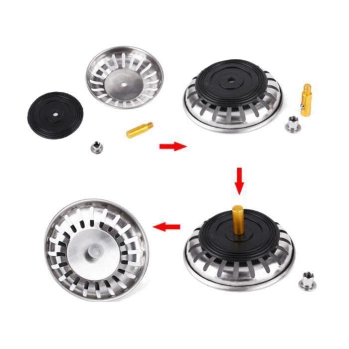 CZ Grille Filtre Filtrage Evier Plug Passoire Panier Lavabo Inox Pour Cuisine 83Mm - CZAVC824A1539