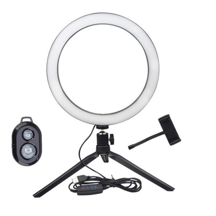 Anneau LED Lampe de Remplissage Selfie Caméra Téléphone Studio Trépied Support Vidéo Dimmable huanlemusi 604