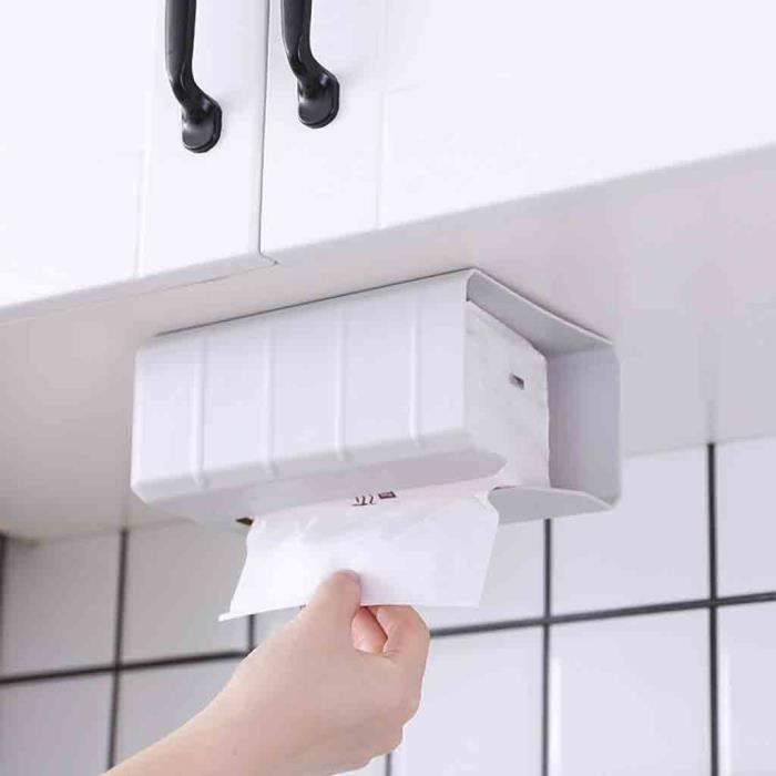 JAC Boîte de distributeur Portable Boîte à mouchoirs de salle de bains, panier mural sans poinçon, plateau de toilette étanche