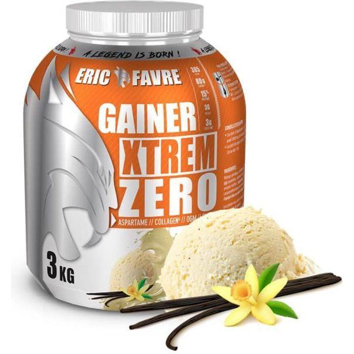 Eric Favre - Gainer Xtrem Zero - Protéines prise de masse - Vanille - Gainers - Vanille