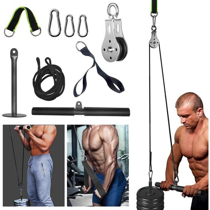 DIP STATION egraveme de poulie de poids de forme physique avec poigneacutee de triceps et sangles de traction pour gymnases agra989