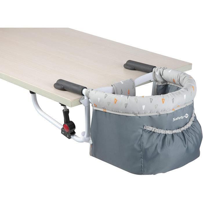 CHAISE BEBE TABOURET BEBE y 1st Smart Lunch Chaise de Table Compacte Pliable 6 Mois agrave 3 5 Ans Warm Gray 15 kg 2728191000154