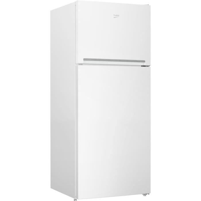 BEKO RDSE450K30WN - Réfrigérateur double porte pose libre 379L (280+99L) - Froid brassé - L70x H170,5cm - Blanc