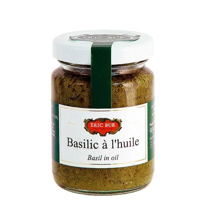 ERIC BUR Basilic À L'Huile d'Olive Vierge Extra - 90 g