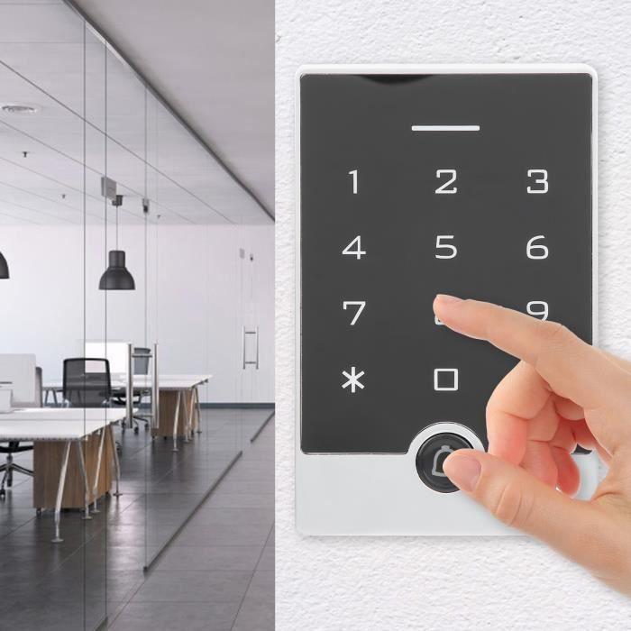 13.56MHz RFID contrôle d'accès mot de passe carte de balayage Wiegand26 système d'entrée de sécurité clavier lumineux-TIP