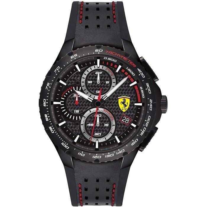 Ferrari-Montre Chronographe pour Hommes à movement Quartz en Silicone - 0830734