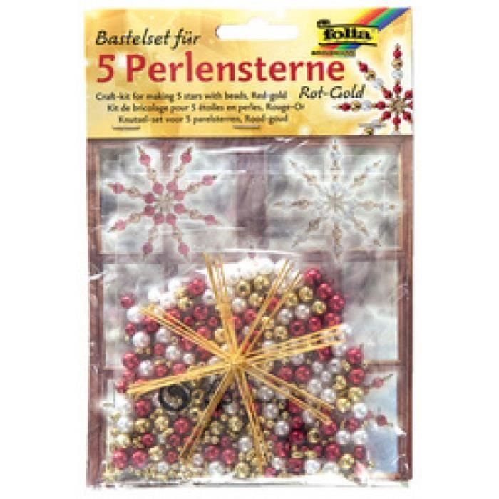 folia Kit d''toiles en perles, 340 piŠces, rouge 0,000000 Noir