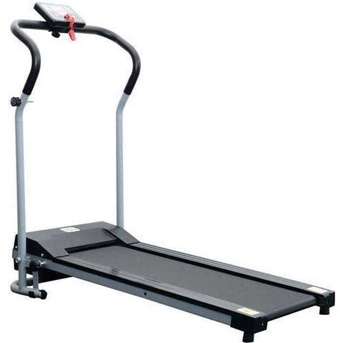 Tapis roulant de course electrique fitness argent-noir 98