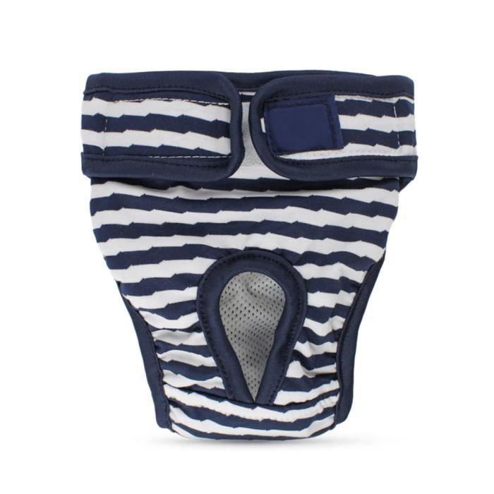 Nappies de chien réutilisables-Pantalon sanitaire des couches pour chiens à la saison Pantalons de chiot Pantalons de ch Bleu S