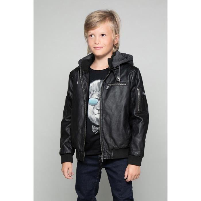 Veste courte à capuche DONN - Couleur - Black, Taille - 14