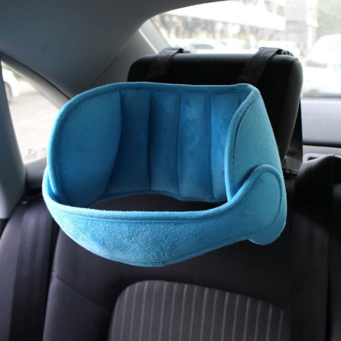 Bébé Support De Tête De Voiture Coussin D'Appui-Tête Réglable Auto Siège De Sécurité Porte-Tête Pour Enfant - Bleu
