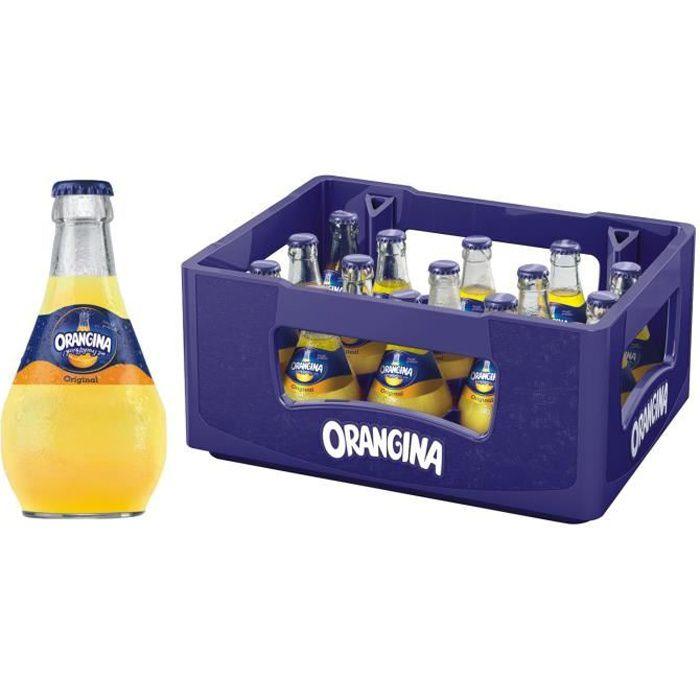 Orangina Limonade bouteille en verre de 15x0,25l d'origine en cas d'origine