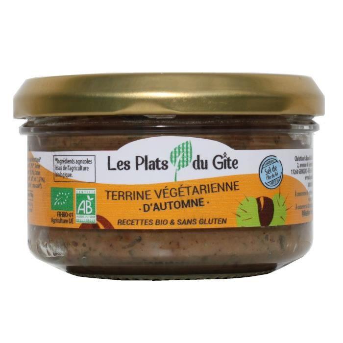 LES PLATS DU GITE Terrine Végétarienne d'Automne - Bio - Végan - 120 g