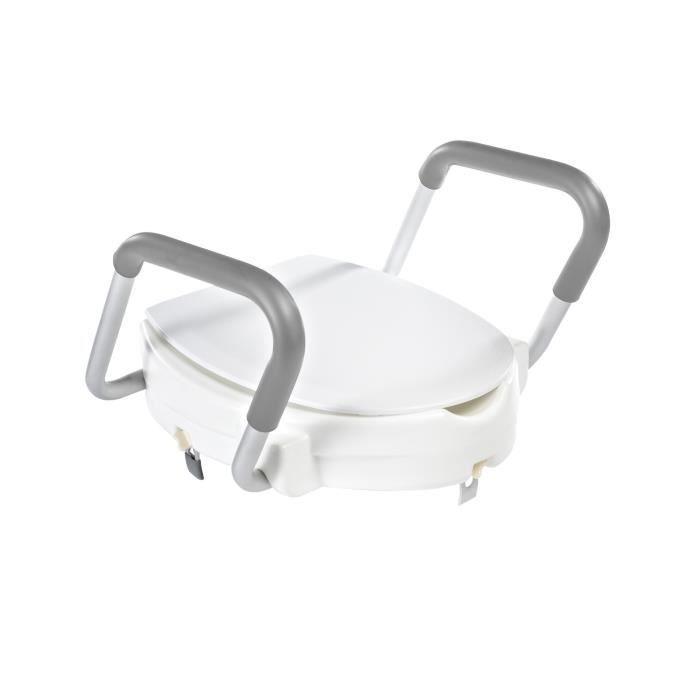 RIDDER Siège de toilette avec barre de sécurité Blanc 150 kg A0072001