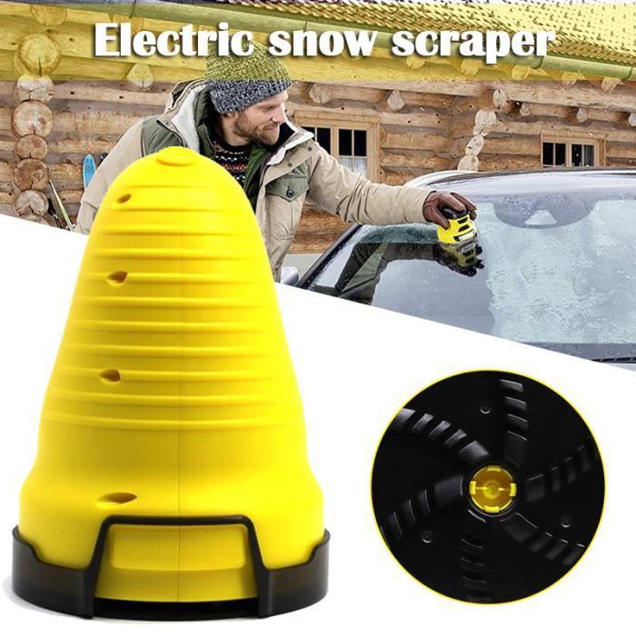 Grattoir à glace pour voiture, grattoir à neige électrique, cône magique pour pare-brise, grattoir à glace rond, outil de nettoyage