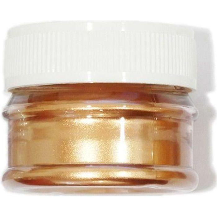 Colorant alimentaire de surface en poudre cuivré - 5 g
