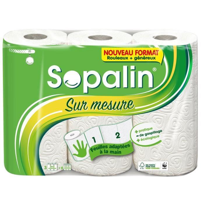 SOPALIN ESSUIE-TOUT SUR MESURE 3 MAXI = 6 ROULEAUX, 3 MAXI-ROULEAUX