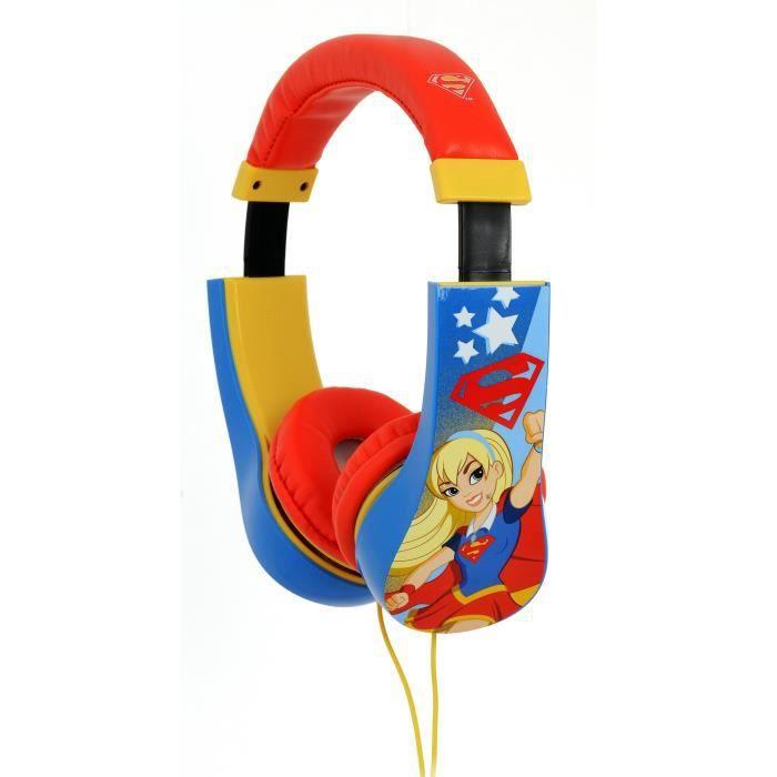 SUPER HERO GIRLS Casque audio kidsafe - Rouge