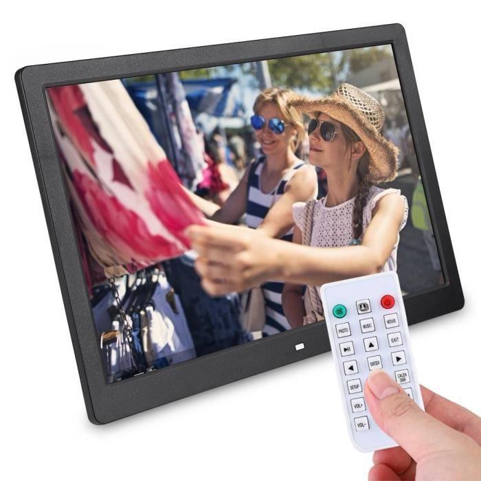 PAL - Cadre photo numérique 15.4 pouces 1280 * 800HD réveil lecteur télécommande noir UK