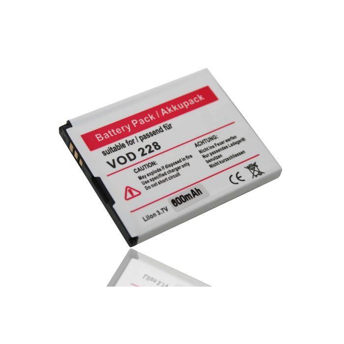 Batterie Li-Ion pour smartphone VODAFONE VF227, VF228, VF 227, ZTE F280, F285, F228, A933, A711, remplace le modèle Li3707T42P3h4…