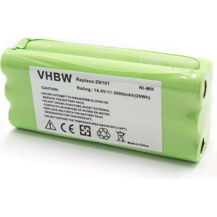 vhbw NiMH batterie 2000mAh pour robot aspirateur Dirt Devil Fusion, Libero, M606, M606-1