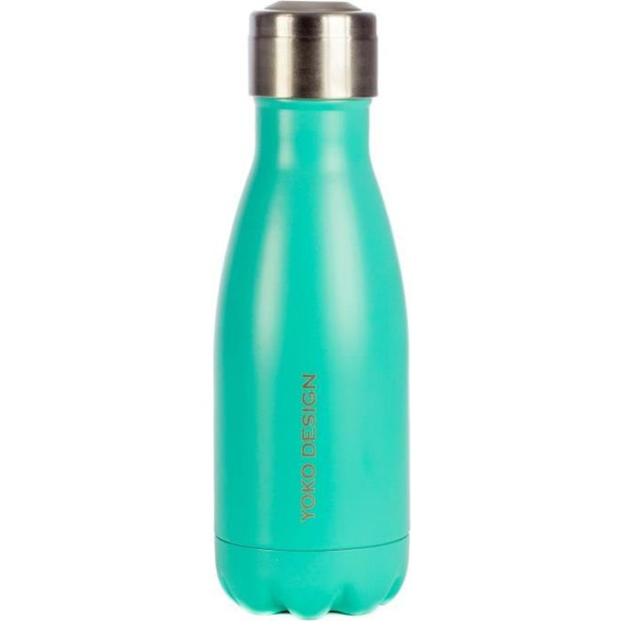 Bouteille isotherme YOKO DESIGN 260 ml coloris turquoise