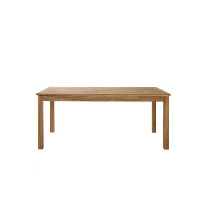 Table a manger rectangulaire willy 180 cm chene massif for Table a manger rectangulaire