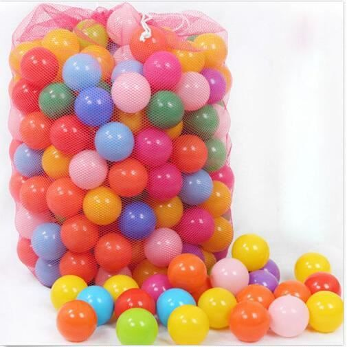 200pcs 50mm colorful plastique souple ocean boule for Piscine a boule bebe