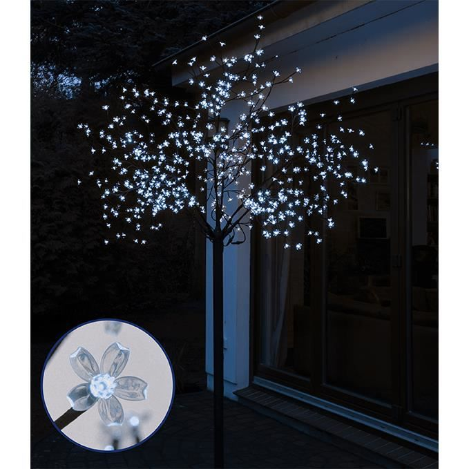 spetebo arbre lumineux led avec 600 led usage int rieur et ext rieur 250 cm blanc froid achat. Black Bedroom Furniture Sets. Home Design Ideas