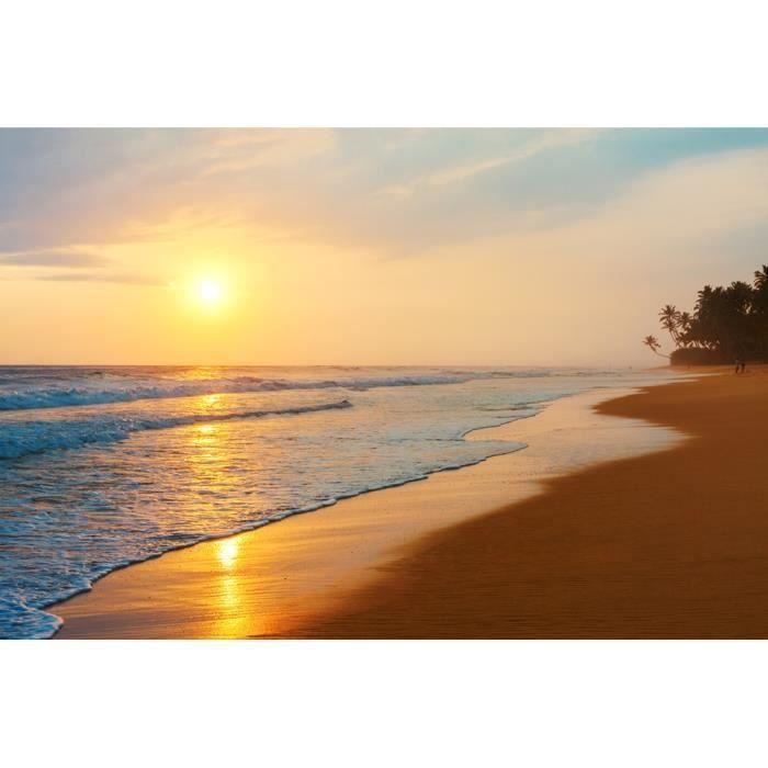 Nappes Papier peint papier peint affiches f07732 Coucher de soleil sur la mer nature pays