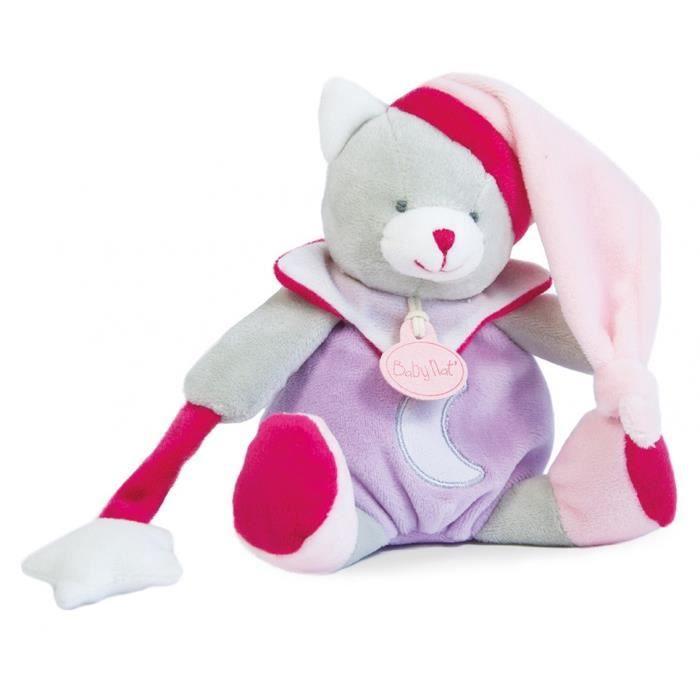 BABY NAT Babynat Doudou Luminescent LAPIN rose /étoile H 20 cm