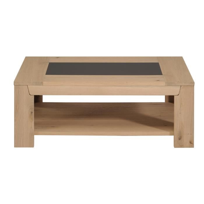 Table basse design ch ne clair roc achat vente table for Table basse design solde