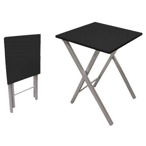 table pliante 48 cm noir achat vente table de cuisine table pliante 48 cm noir cdiscount. Black Bedroom Furniture Sets. Home Design Ideas