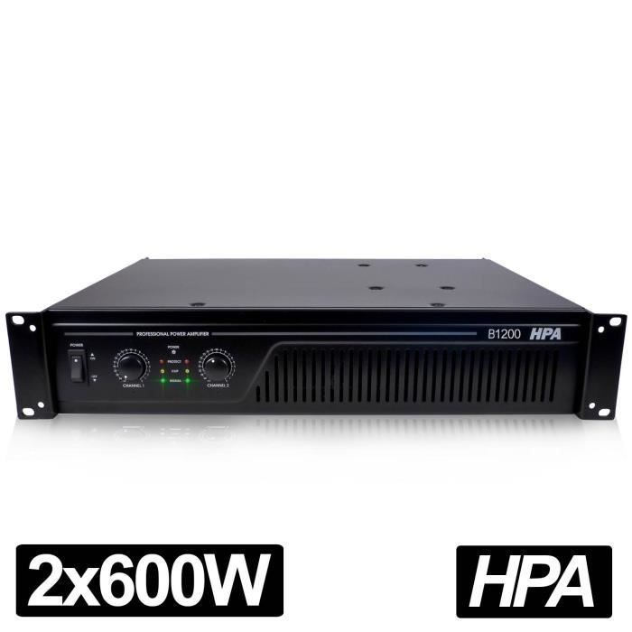 amplificateur pro dj sonorisation hpa 1200w rms ampli. Black Bedroom Furniture Sets. Home Design Ideas